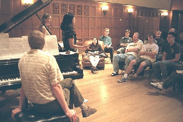 James Boyk's music session in Dabney Lounge